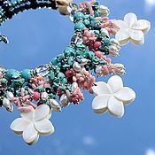 Украшения handmade. Livemaster - original item Tropicana -dimensional necklace natural stones pearls mother of pearl. Handmade.