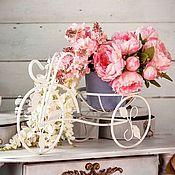 Цветочные подставки ручной работы. Ярмарка Мастеров - ручная работа Кованый велосипед для цветов. Handmade.