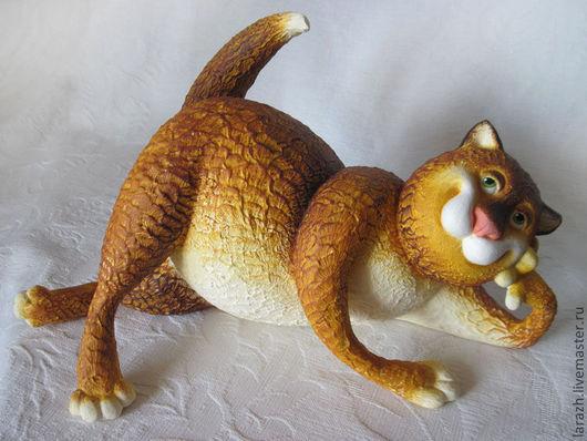 """Игрушки животные, ручной работы. Ярмарка Мастеров - ручная работа. Купить Кот """"Философ"""". Handmade. Рыжий, игрушка в подарок"""