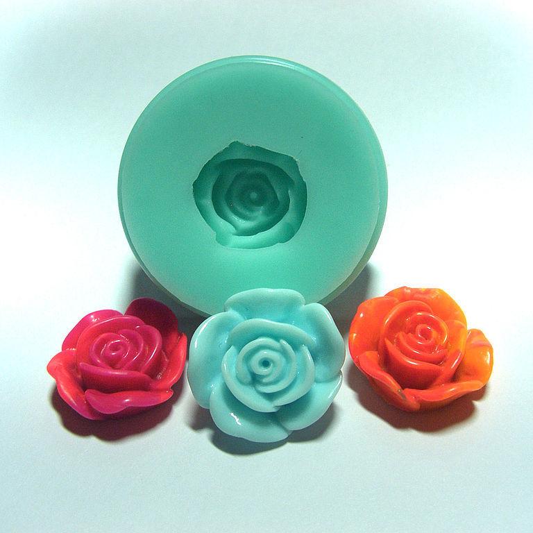 "Купить Форма, молд, кабошон ""Роза"" (арт.: 18) - силиконовая форма, Молды для пластики"