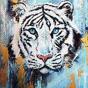 Картины и панно handmade. Livemaster - original item White Tiger interior painting. Handmade.