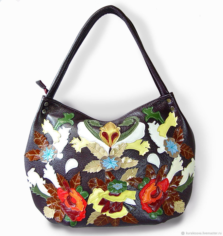 Handbags handmade. Livemaster - handmade. Buy Leather bag 'Kaleidoscope'.Handmade, shoulder bags, thread acrylic