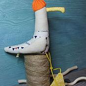 Мягкие игрушки ручной работы. Ярмарка Мастеров - ручная работа Игрушки: Чайка Кусто. Handmade.