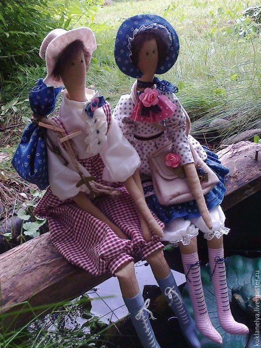 Куклы Тильды ручной работы. Ярмарка Мастеров - ручная работа. Купить Кукла Тильда Маленькие друзья.. Handmade. Комбинированный, друзья