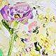 Желтая розовая лиловая сиреневая фиолетовая картина в спальню маслом на холсте с подрамником. купить заказать картину у художника Марина Маткина Пермь Москва Санкт-Петербург