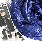 """Платки ручной работы. Ярмарка Мастеров - ручная работа Платок каре из ткани Louis Vuitton """"Monogram luxury"""" синий. Handmade."""