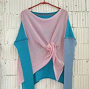Одежда ручной работы. Ярмарка Мастеров - ручная работа КН_003_БГА Блузон 3-хцветный. Handmade.