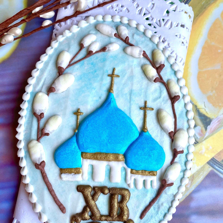 Пряник подарочный храм Пасха, Кулинарные сувениры, Москва,  Фото №1