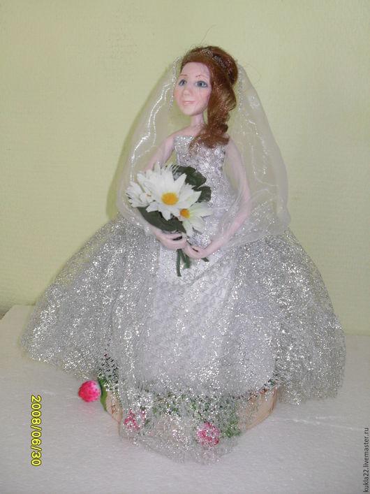 Интерьерная кукла.Невеста. Холодный фарфор.
