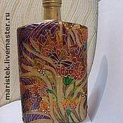 """Посуда ручной работы. Ярмарка Мастеров - ручная работа Бутылка-фляжка """"Стрекоза"""". Handmade."""