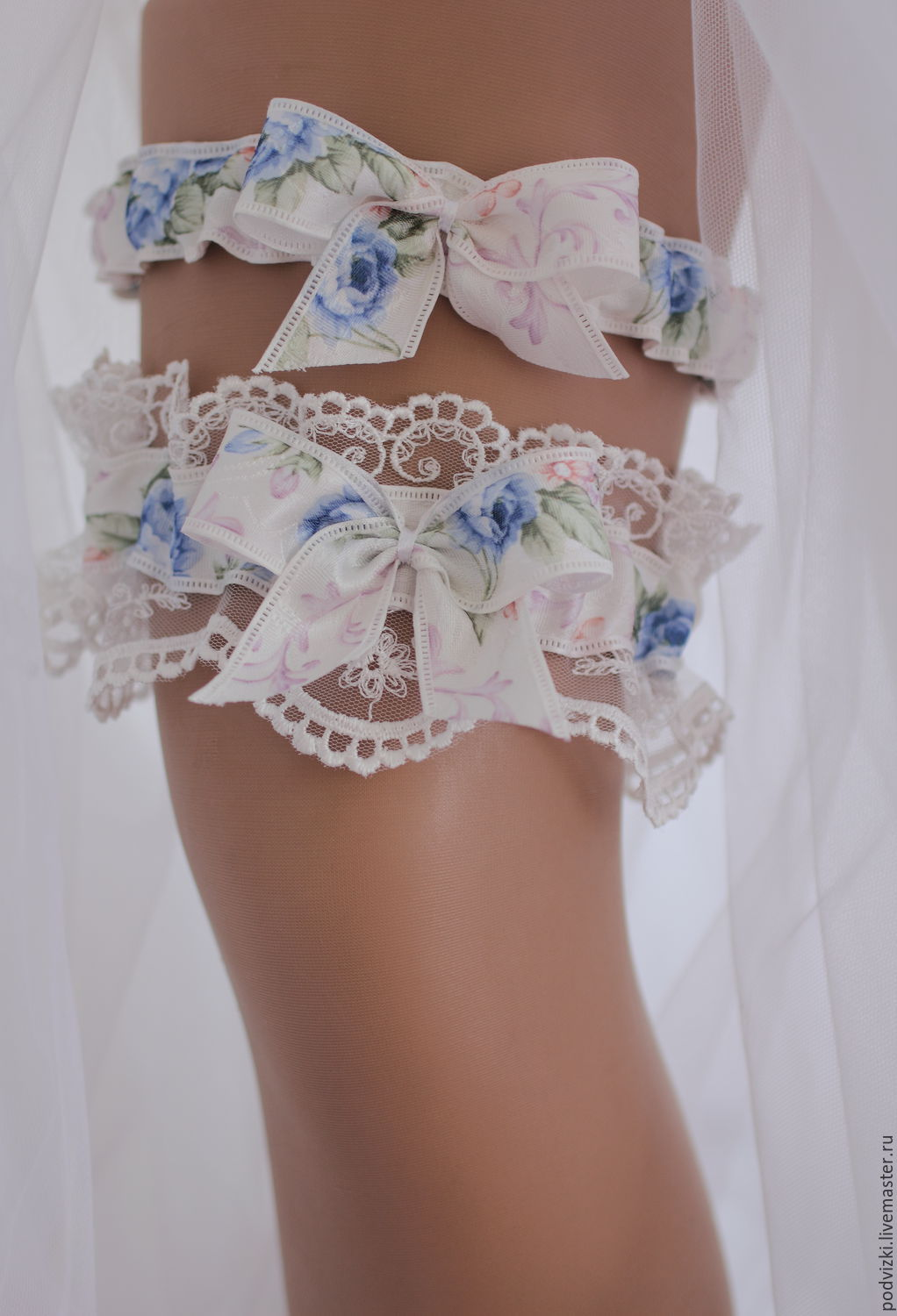 """Garter for wedding bride -a Set of """"Lace"""", Garter, Moscow,  Фото №1"""