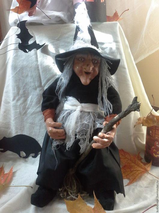 Подарки на Хэллоуин ручной работы. Ярмарка Мастеров - ручная работа. Купить Интерьерная кукла Ведьма на Хеллоуин. Handmade. Интерьерная кукла