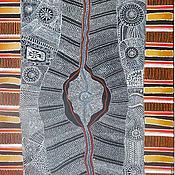 Картины и панно ручной работы. Ярмарка Мастеров - ручная работа аборигены,абстракция. Handmade.