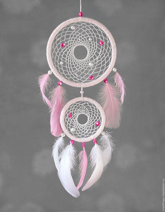 """Ловцы снов ручной работы. Ярмарка Мастеров - ручная работа. Купить Ловец снов """"Фламинго"""". Handmade. Розовый, ловец сновидений"""