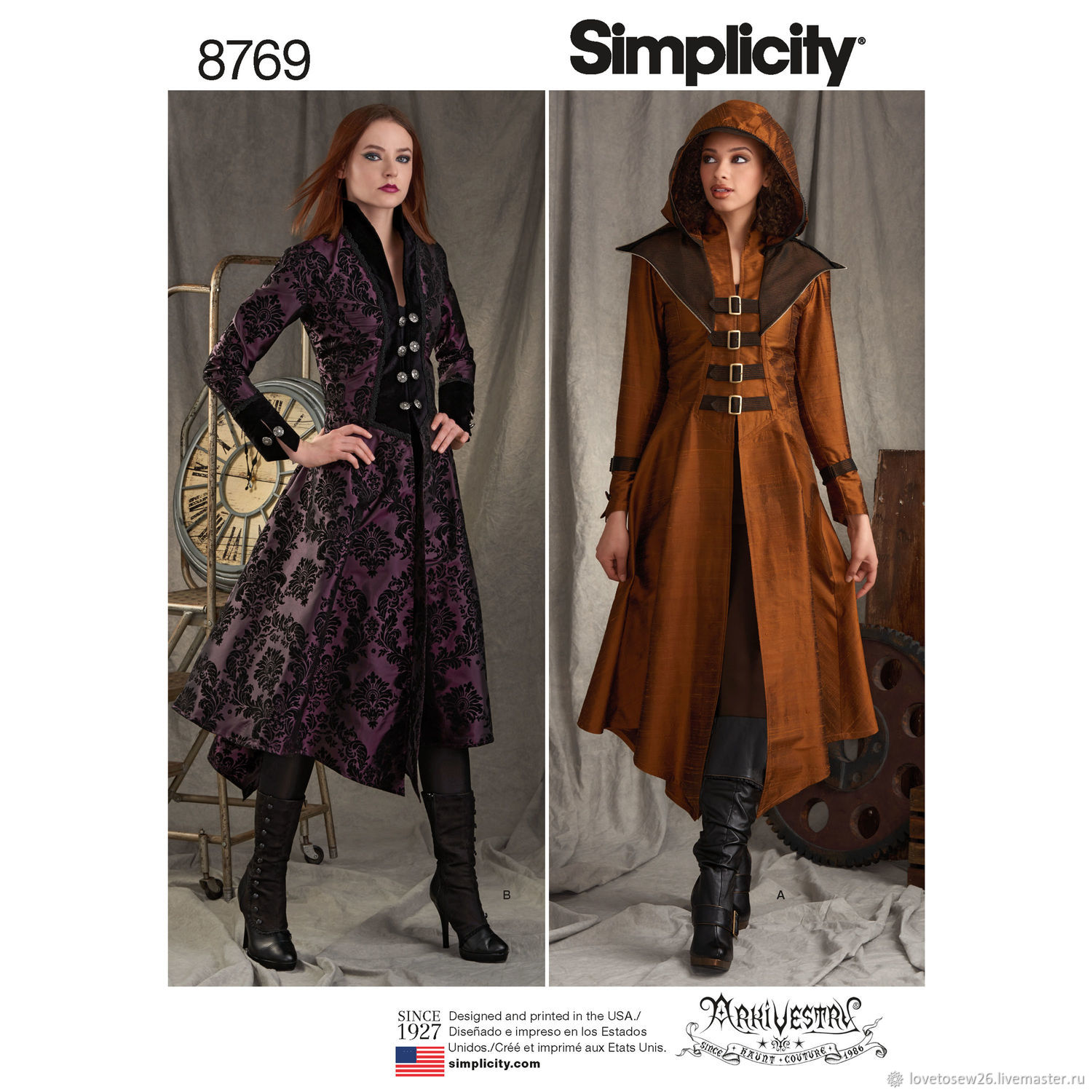 SEWING PATTERN COSPLAY Halloween Carnaval Steampunk Gothic ...