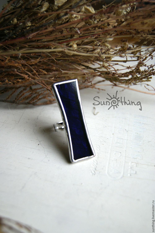 Ring from dark blu glass, Rings, St. Petersburg,  Фото №1