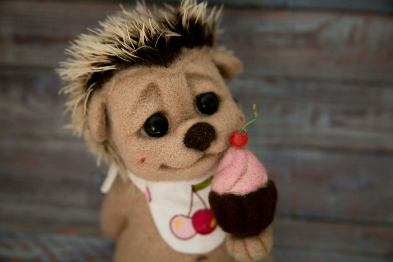 felt toy: Mafin-hedgehog sweet tooth, Felted Toy, Volzhsky,  Фото №1