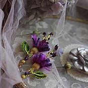 """Украшения ручной работы. Ярмарка Мастеров - ручная работа Серьги """" Flowers amethyst """". Handmade."""