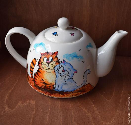 """Чайники, кофейники ручной работы. Ярмарка Мастеров - ручная работа. Купить Чайник """"Сладкая парочка х 2"""" (0734). Handmade."""