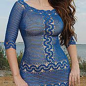 """Одежда ручной работы. Ярмарка Мастеров - ручная работа Платье """" Синие кружева"""". Handmade."""