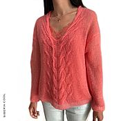 Одежда handmade. Livemaster - original item Women`s Dream pullover p. 44-46 (S-M) with a lace top, kid mohair. Handmade.