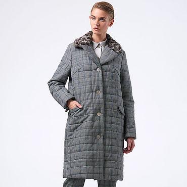 Одежда ручной работы. Ярмарка Мастеров - ручная работа Пальто в узором в клетку. Handmade.