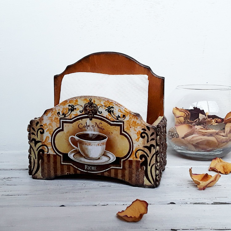 Kitchen Handmade Livemaster Napkin Holder Coffee