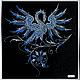 Животные ручной работы. Ярмарка Мастеров - ручная работа. Купить Картина Swarovski  Синяя птица. Handmade. Комбинированный, сваровски кристаллы