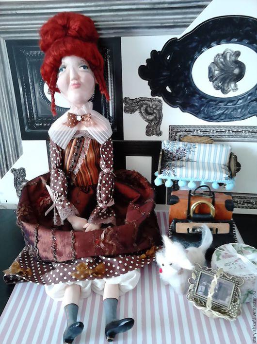 """Коллекционные куклы ручной работы. Ярмарка Мастеров - ручная работа. Купить Будуарная кукла """"Дама сдавала в багаж..."""". Handmade."""