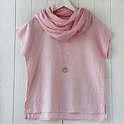 Аксессуары handmade. Livemaster - original item Light pink scarf-scarf made of thin cotton. Handmade.