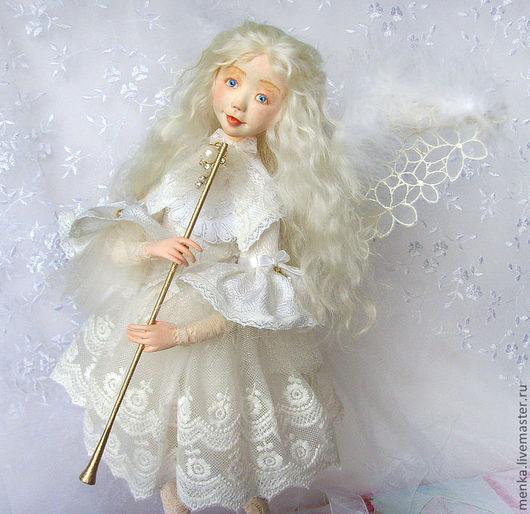 Коллекционные куклы ручной работы. Ярмарка Мастеров - ручная работа. Купить Рождественский ангел. Handmade. Белый, подарок на рождество