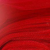 Материалы для творчества ручной работы. Ярмарка Мастеров - ручная работа Фатин средней жесткости (шир. 3м) ак39 Бордовый. Handmade.