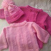 """Работы для детей, ручной работы. Ярмарка Мастеров - ручная работа Комплект вязаный """"Розовый фламинго"""". Handmade."""