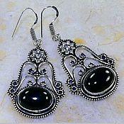 Материалы для творчества handmade. Livemaster - original item a pair of pendants on earrings with black onyx.. Handmade.