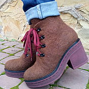 """Обувь ручной работы. Ярмарка Мастеров - ручная работа Сапожки из шерсти """"Богиня"""". Handmade."""