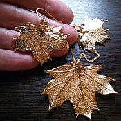 Украшения ручной работы. Ярмарка Мастеров - ручная работа Комплект Краски Осени золото клены. Handmade.