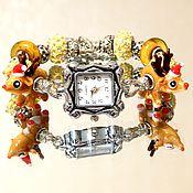 """Украшения ручной работы. Ярмарка Мастеров - ручная работа Часы   """"Новый год к нам мчится"""". Handmade."""