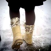 Обувь ручной работы. Ярмарка Мастеров - ручная работа Валенки,,Золотое руно``. Handmade.