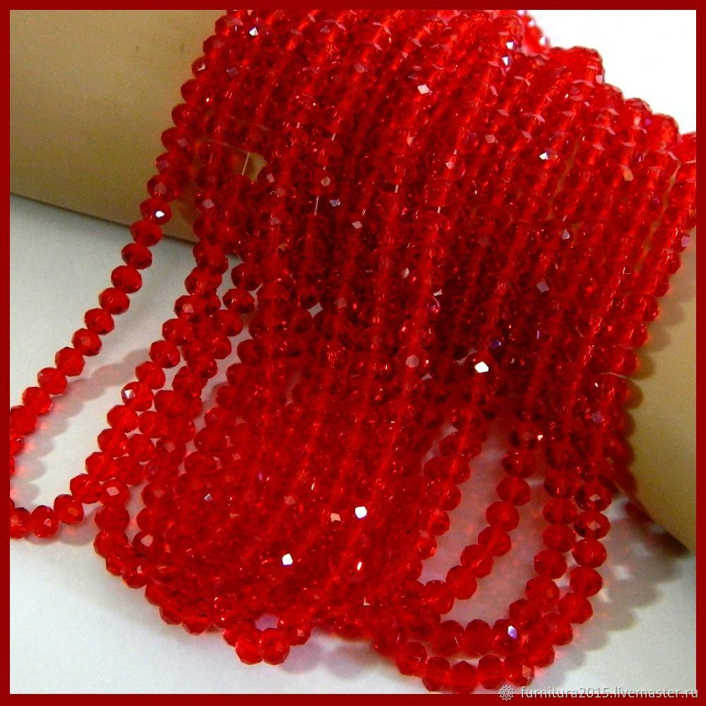 CRYSTAL beads RONDEL 6h4 mm PCs, Beads1, Saratov,  Фото №1