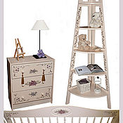 Для дома и интерьера ручной работы. Ярмарка Мастеров - ручная работа мебель с цветами. Handmade.
