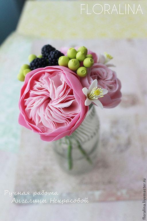 Интерьерные композиции ручной работы. Ярмарка Мастеров - ручная работа. Купить Розовые розы (повтор). Handmade. Розовый