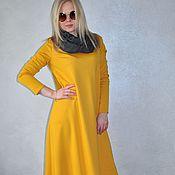 Одежда handmade. Livemaster - original item Maxi dress Jersey asymmetric hem. Handmade.