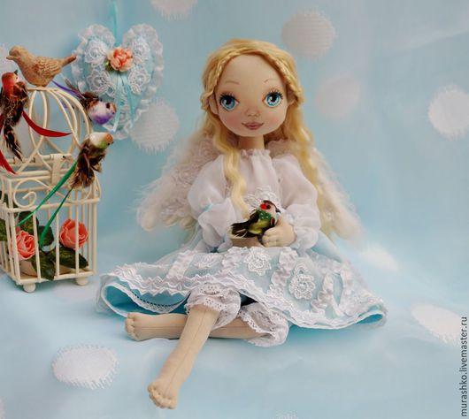 Коллекционные куклы ручной работы. Ярмарка Мастеров - ручная работа. Купить Ангел. Handmade. Ангел, ангел текстильный, габардин