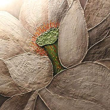 Картины и панно ручной работы. Ярмарка Мастеров - ручная работа Картина -панно с рельефным цветком. Handmade.