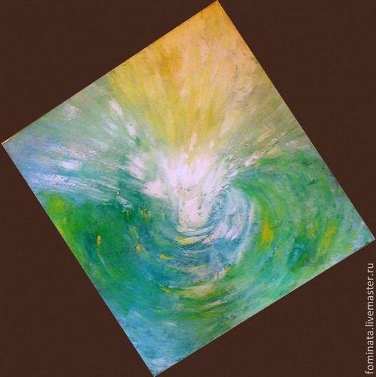 """Медитация ручной работы. Ярмарка Мастеров - ручная работа. Купить картина """"Свет Исцеляющий"""". Handmade. Картина маслом, зеленый цвет"""