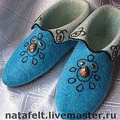 Обувь ручной работы. Ярмарка Мастеров - ручная работа Домашние туфли. Handmade.