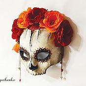 """Одежда ручной работы. Ярмарка Мастеров - ручная работа Полумаска """"Dia de los muertos"""". Handmade."""