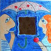 """Для дома и интерьера ручной работы. Ярмарка Мастеров - ручная работа Зеркало """"Ты мне нравишься"""". Handmade."""