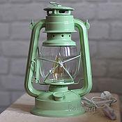 Настольные лампы ручной работы. Ярмарка Мастеров - ручная работа Керосиновая лампа электрическая настольная в винтажном / лофт стиле. Handmade.