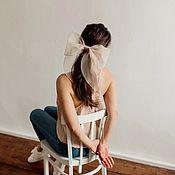 Украшения handmade. Livemaster - original item Beige Bow. Handmade.